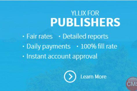 Kiếm tiền với Yllix mạng quảng cáo cho website vừa và nhỏ