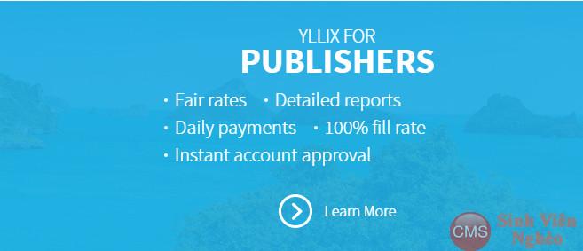 Kiếm tiền với Yllix mạng quảng cáo cho website vừa và nhỏ thumbnail
